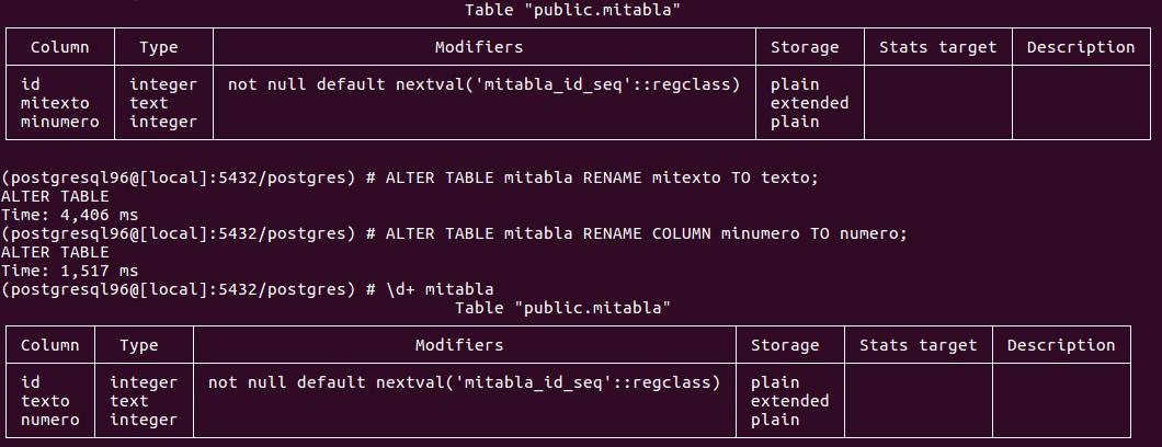 Constraint postgres rename PostgreSQL ALTER
