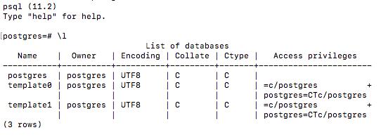 Encoding psql